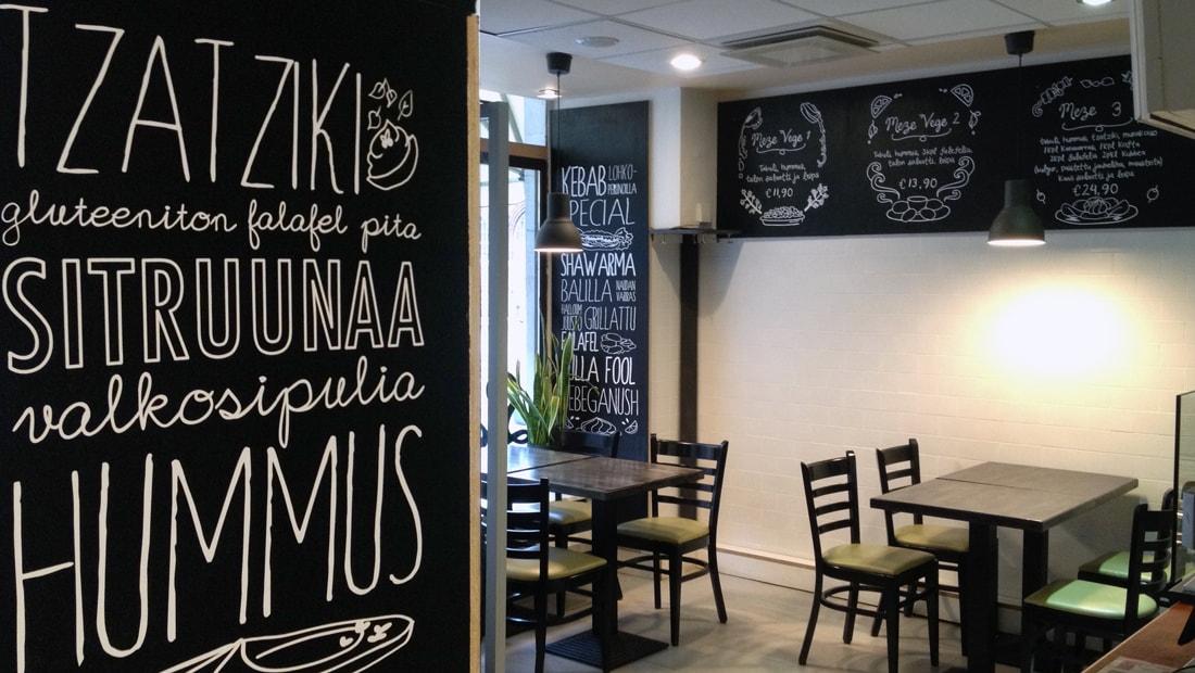 metro food helsinki restaurant interior design studio void illustration typography