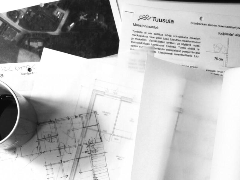 L-House tuusula finland architect office design sketch