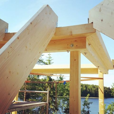 pyramid house finland wood construction lake paolo caravello studio void