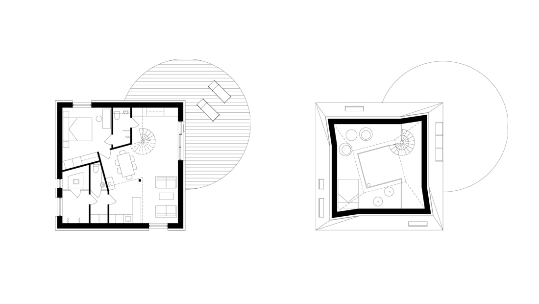 nexus wooden house floor plan architect drawing void