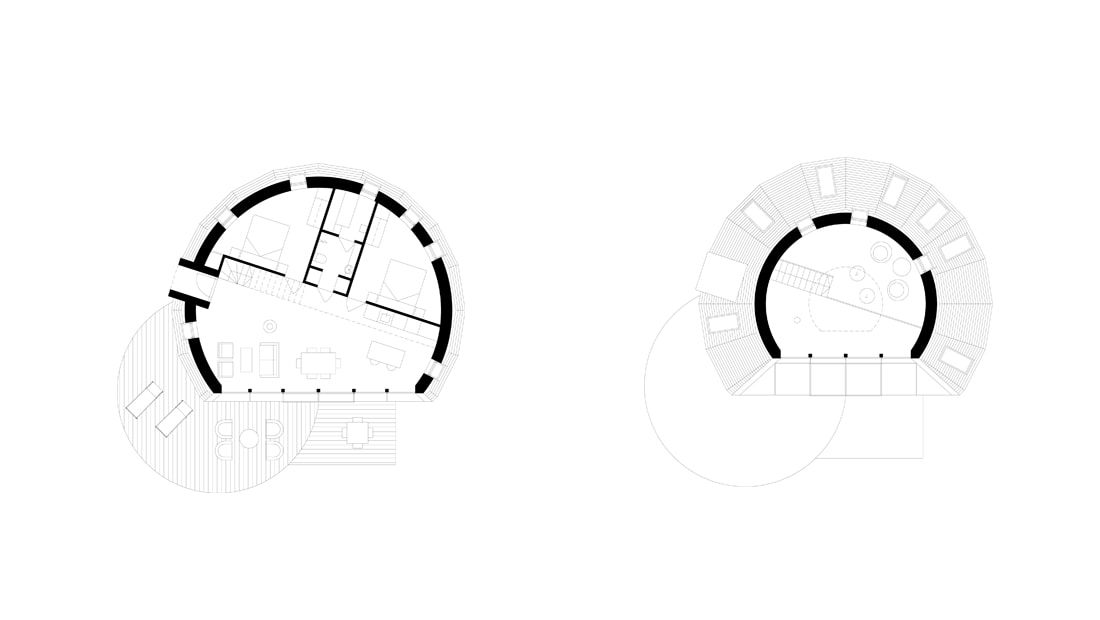 pulsar house architect drawing floor plan void