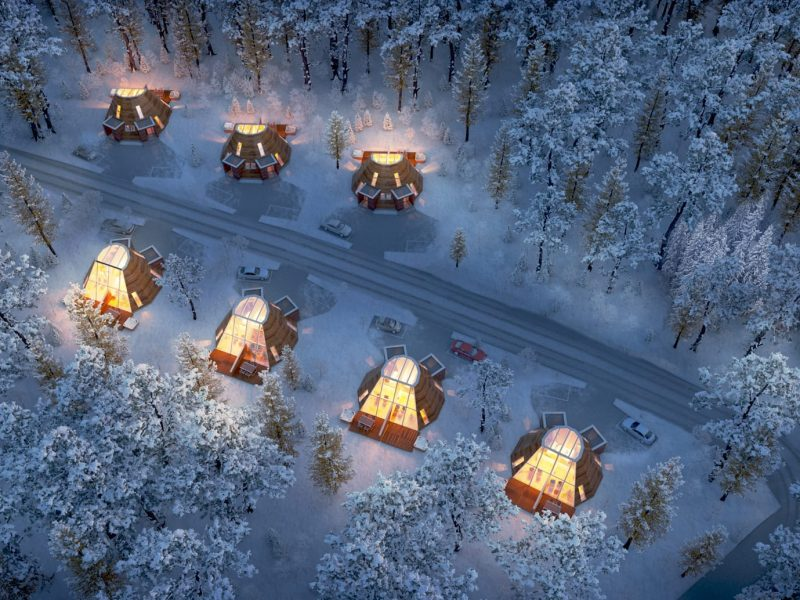 Snowman World Glass Resort in Santa Village Rovaniemi Lapland