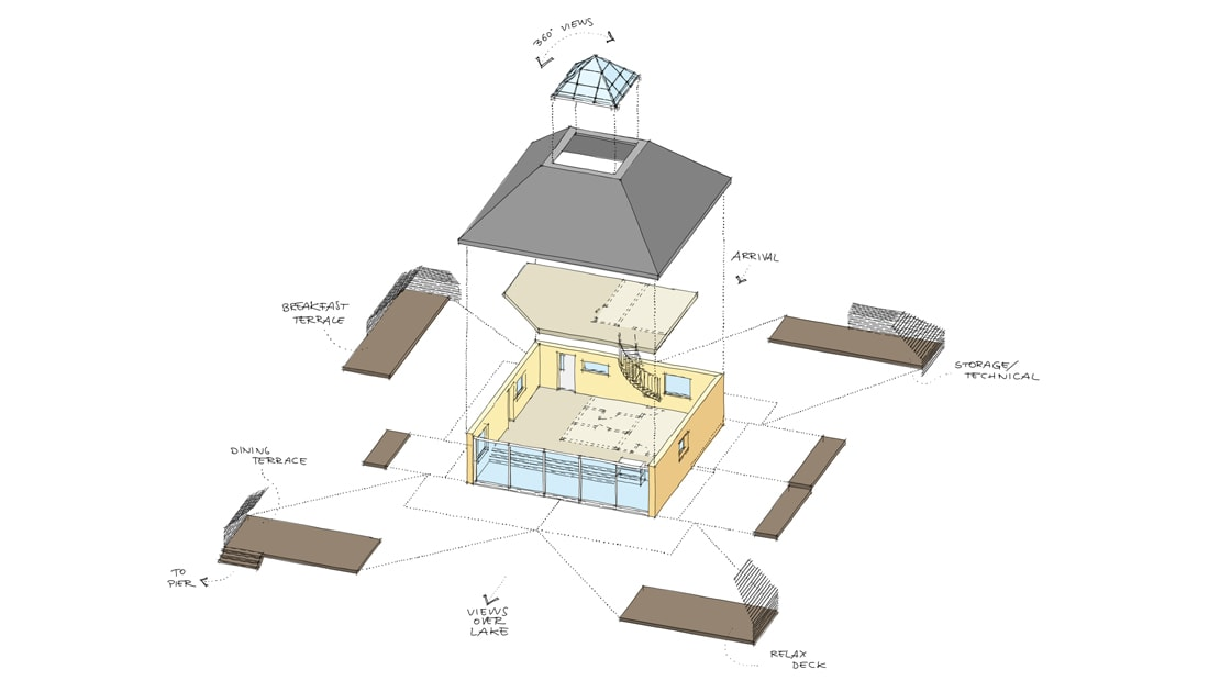 pyramid house finland diagram architect drawing concept composition hand drawn studio void building permit