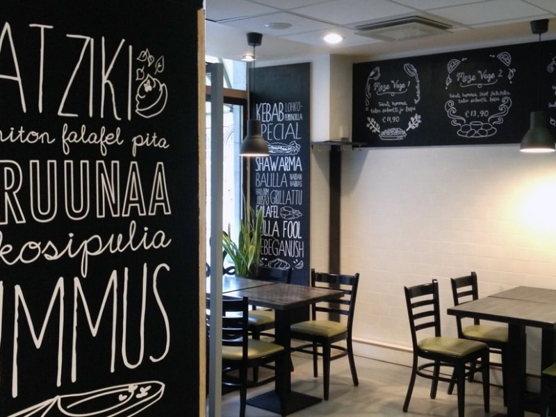 metro food helsinki restaurant interior design studio void illustration typography