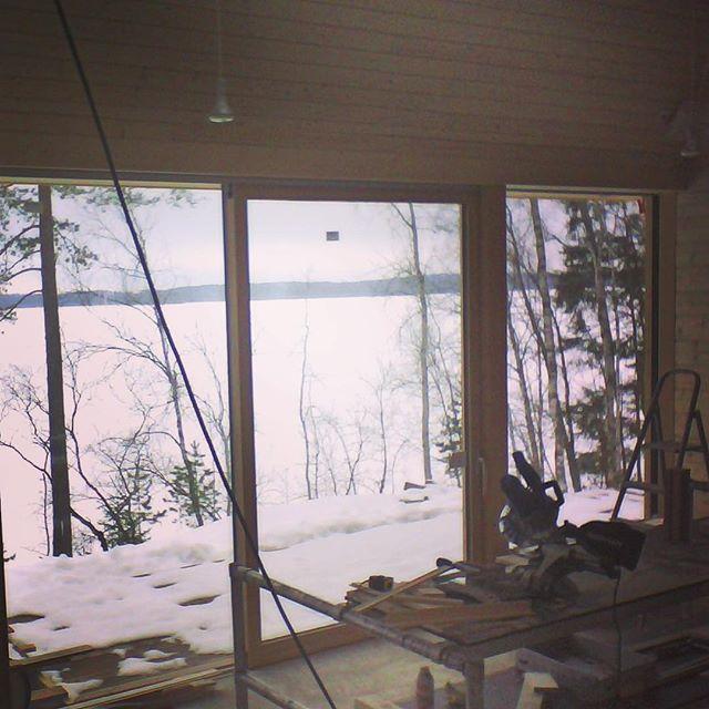 Pyramid House Finland interior winter snow lake paolo caravello studio void
