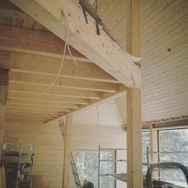 Pyramid House Finland interior construction wood architecture paolo caravello studio void