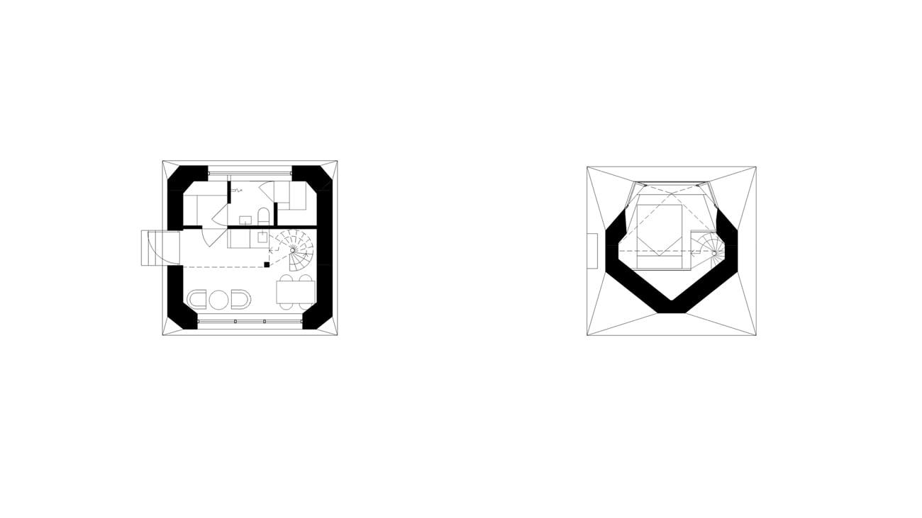 Vega is a hybrid between a hut retreat, a sauna building and a sky observatory.